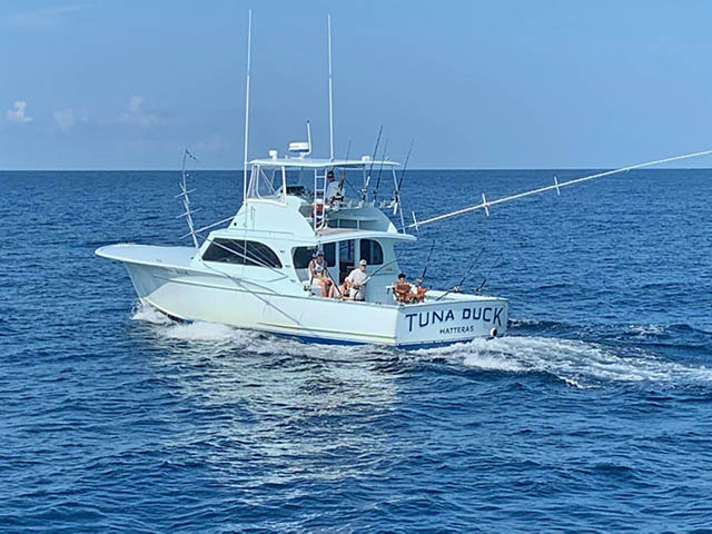 the Tuna Duck fishes in Gulf Stream waters off Cape Hatteras NC