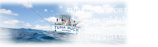 Hatteras Charter Fishing Boat Tuna Duck