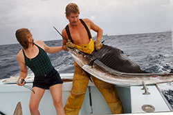 Boating a sailfish