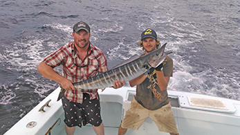 Sam and Eric with a wahoo