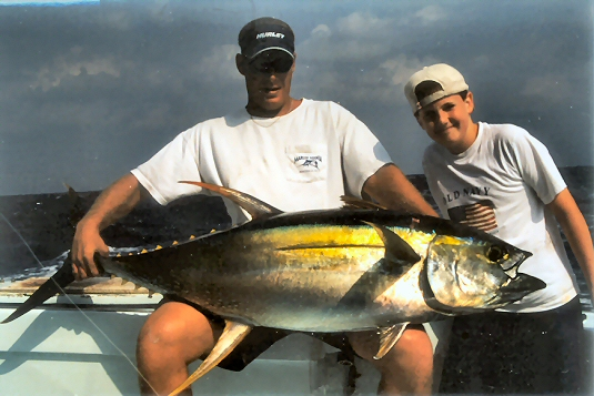 boy with yellowfin